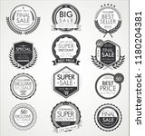 retro vintage sale badges and... | Shutterstock .eps vector #1180204381