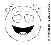 in love chat emoticon in black...   Shutterstock .eps vector #1180218601