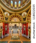 HELENA, MONTANA - AUGUST 3: Interior of the State Capitol Building on August 3, 2012 in Helena, Montana - stock photo