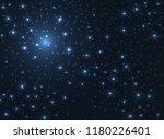 shining stars glow in the dark...   Shutterstock .eps vector #1180226401