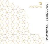 Gold Hexagons Border Pattern...