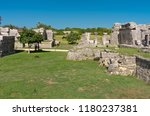 tulum is the site of a pre... | Shutterstock . vector #1180237381