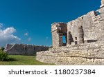 tulum is the site of a pre... | Shutterstock . vector #1180237384