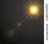 transparent lens flares glow... | Shutterstock .eps vector #1180245091