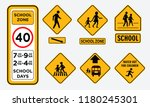 set of school zone street or pedestrian area