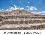 landmark teotihuacan pyramids... | Shutterstock . vector #1180249327