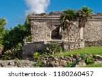 tulum is the site of a pre... | Shutterstock . vector #1180260457