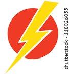 lightning bolt | Shutterstock .eps vector #118026055