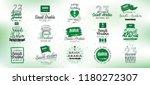 kingdom of saudi arabia... | Shutterstock .eps vector #1180272307