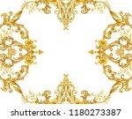 golden baroque decorative... | Shutterstock . vector #1180273387