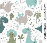dinosaur baby boy seamless... | Shutterstock .eps vector #1180275694