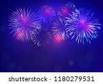 brightly colorful fireworks on... | Shutterstock .eps vector #1180279531