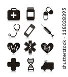 medical icons over white... | Shutterstock .eps vector #118028395