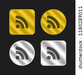 rss feed symbol gold and silver ...