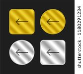 left arrow gold and silver...