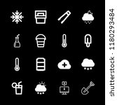 ice icons set with portable... | Shutterstock .eps vector #1180293484