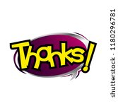thanks  greeting card... | Shutterstock .eps vector #1180296781