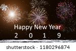 happy new year 2019  firework... | Shutterstock . vector #1180296874