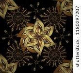 seamless pattern on black ... | Shutterstock .eps vector #1180297207