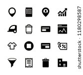 commercial icons set with... | Shutterstock .eps vector #1180298587