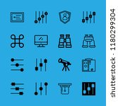 16 surveillance icons with... | Shutterstock .eps vector #1180299304