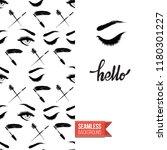 makeup artist promo card flyer. ... | Shutterstock .eps vector #1180301227