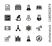 research icons set with atom ... | Shutterstock .eps vector #1180302874