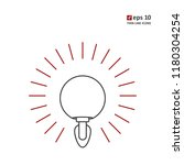 lamp   vector thin line icon on ...