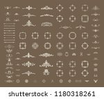 vector set of calligraphic...   Shutterstock .eps vector #1180318261