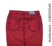 burgundy denim skirt isolated... | Shutterstock . vector #1180325164