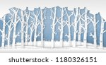the winter season with trees... | Shutterstock .eps vector #1180326151