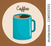 delicious coffee cup drink | Shutterstock .eps vector #1180332331