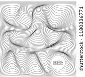 distorted wave monochrome... | Shutterstock .eps vector #1180336771