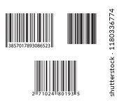 set of barcode and number icon. ... | Shutterstock .eps vector #1180336774