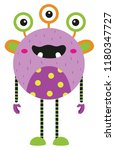 vector illustration of cute and ... | Shutterstock .eps vector #1180347727