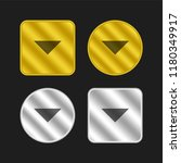 down arrow gold and silver...
