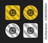 smiley gold and silver metallic ...