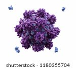 3d render  microbiological... | Shutterstock . vector #1180355704