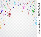 colorful confetti isolated from ... | Shutterstock .eps vector #1180356664