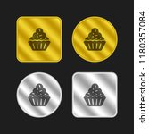 cupcake gold and silver...