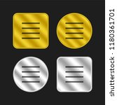 menu gold and silver metallic...