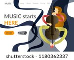 music colorful banner  site... | Shutterstock .eps vector #1180362337