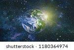 galaxy in space  beauty of... | Shutterstock . vector #1180364974