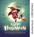 happy halloween. halloween... | Shutterstock .eps vector #1180365661