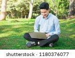 attractive asian businessman...   Shutterstock . vector #1180376077