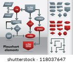 flowchart elements in two... | Shutterstock .eps vector #118037647