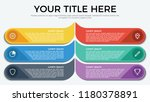 infographic element with 6... | Shutterstock .eps vector #1180378891