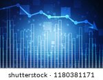 2d illustration stock market... | Shutterstock . vector #1180381171