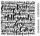 millennials word cloud social... | Shutterstock .eps vector #1180384561