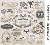 scrapbook design elements.... | Shutterstock .eps vector #118038691
